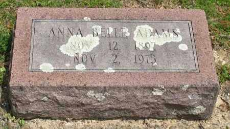 ADAMS, ANNA BELLE - Garland County, Arkansas | ANNA BELLE ADAMS - Arkansas Gravestone Photos