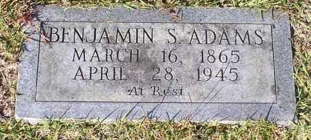 ADAMS, BENJAMIN S. - Garland County, Arkansas | BENJAMIN S. ADAMS - Arkansas Gravestone Photos