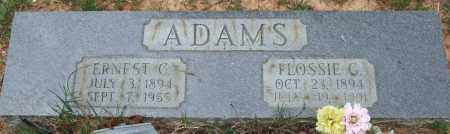 GARNER ADAMS, FLOSSIE - Garland County, Arkansas | FLOSSIE GARNER ADAMS - Arkansas Gravestone Photos