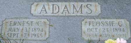 GARNER ADAMS, FLOSSIE (CLOSE UP) - Garland County, Arkansas | FLOSSIE (CLOSE UP) GARNER ADAMS - Arkansas Gravestone Photos
