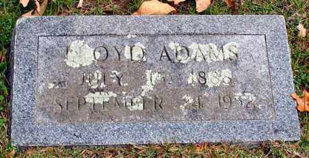 ADAMS, LLOYD - Garland County, Arkansas | LLOYD ADAMS - Arkansas Gravestone Photos