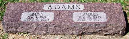 ADAMS, FRANCIS - Garland County, Arkansas | FRANCIS ADAMS - Arkansas Gravestone Photos