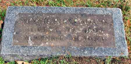 ADAMS, MINNIE IRENE - Garland County, Arkansas | MINNIE IRENE ADAMS - Arkansas Gravestone Photos