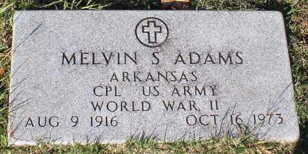 ADAMS (VETERAN WWII), MELVIN S. - Garland County, Arkansas | MELVIN S. ADAMS (VETERAN WWII) - Arkansas Gravestone Photos
