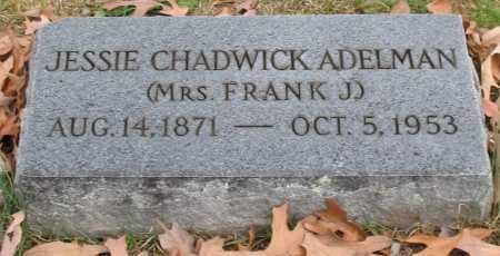 CHADWICK ADELMAN, JESSIE - Garland County, Arkansas | JESSIE CHADWICK ADELMAN - Arkansas Gravestone Photos