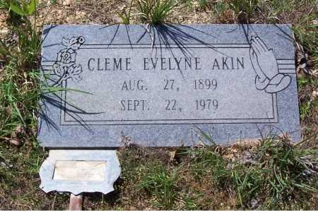 AKIN, CLEME EVELYNE - Garland County, Arkansas | CLEME EVELYNE AKIN - Arkansas Gravestone Photos