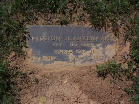 AKIN (VETERAN WWII), PRESTON FRANKLIN - Garland County, Arkansas | PRESTON FRANKLIN AKIN (VETERAN WWII) - Arkansas Gravestone Photos