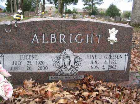 GREESON ALBRIGHT, JUNE J - Garland County, Arkansas | JUNE J GREESON ALBRIGHT - Arkansas Gravestone Photos