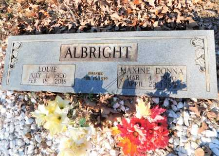 ALBRIGHT, MAXINE DONNA - Garland County, Arkansas | MAXINE DONNA ALBRIGHT - Arkansas Gravestone Photos