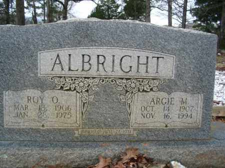 ALBRIGHT, ARGIE M. - Garland County, Arkansas | ARGIE M. ALBRIGHT - Arkansas Gravestone Photos