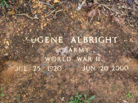 ALBRIGHT (VETERAN WWII), EUGENE - Garland County, Arkansas | EUGENE ALBRIGHT (VETERAN WWII) - Arkansas Gravestone Photos