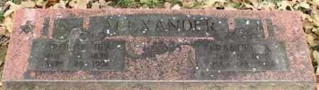 ALEXANDER, FRANCES A. - Garland County, Arkansas | FRANCES A. ALEXANDER - Arkansas Gravestone Photos