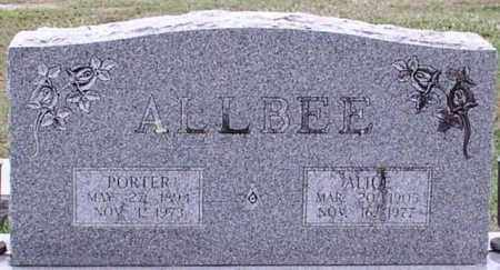 ALLBEE, PORTER - Garland County, Arkansas | PORTER ALLBEE - Arkansas Gravestone Photos