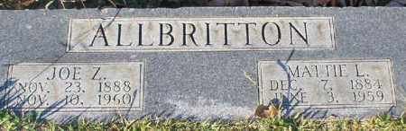 ALLBRITTON, JOE Z. - Garland County, Arkansas | JOE Z. ALLBRITTON - Arkansas Gravestone Photos
