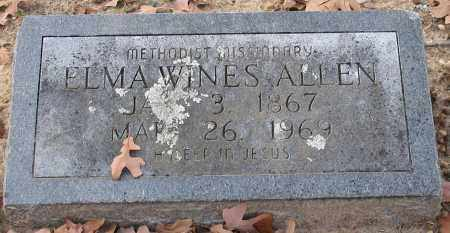 ALLEN, ELMA WINES - Garland County, Arkansas | ELMA WINES ALLEN - Arkansas Gravestone Photos