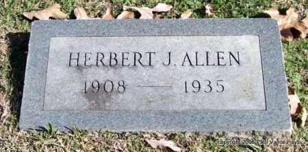 ALLEN, HERBERT J. - Garland County, Arkansas | HERBERT J. ALLEN - Arkansas Gravestone Photos