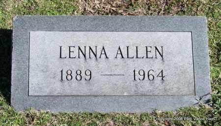 ALLEN, LENNA - Garland County, Arkansas | LENNA ALLEN - Arkansas Gravestone Photos