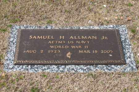 ALLMAN, JR. (VETERAN WWII), SAMUEL H - Garland County, Arkansas | SAMUEL H ALLMAN, JR. (VETERAN WWII) - Arkansas Gravestone Photos