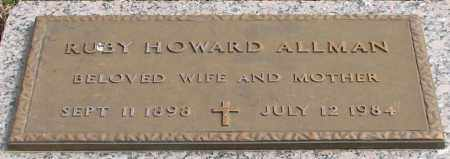 HOWARD ALLMAN, RUBY - Garland County, Arkansas | RUBY HOWARD ALLMAN - Arkansas Gravestone Photos