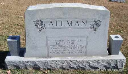ALLMAN (VETERAN, KIA), JAMES SAMUEL - Garland County, Arkansas | JAMES SAMUEL ALLMAN (VETERAN, KIA) - Arkansas Gravestone Photos