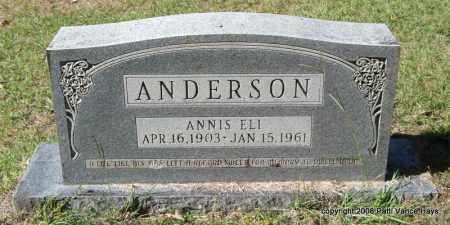 ANDERSON, ANNIS ELI - Garland County, Arkansas | ANNIS ELI ANDERSON - Arkansas Gravestone Photos