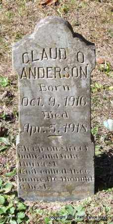 ANDERSON, CLAUD O. - Garland County, Arkansas | CLAUD O. ANDERSON - Arkansas Gravestone Photos