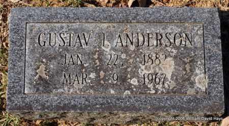 ANDERSON, GUSTAV I. - Garland County, Arkansas | GUSTAV I. ANDERSON - Arkansas Gravestone Photos