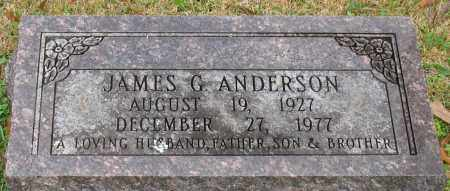 ANDERSON, JAMES G. - Garland County, Arkansas | JAMES G. ANDERSON - Arkansas Gravestone Photos