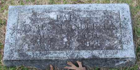 ANDERSON, JAMES M. - Garland County, Arkansas | JAMES M. ANDERSON - Arkansas Gravestone Photos