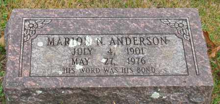 ANDERSON, MARION N. - Garland County, Arkansas | MARION N. ANDERSON - Arkansas Gravestone Photos