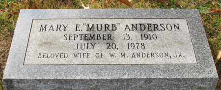 "ANDERSON, MARY E. ""MURB"" - Garland County, Arkansas 