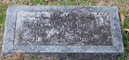 ANDERSON, MARY W. - Garland County, Arkansas | MARY W. ANDERSON - Arkansas Gravestone Photos