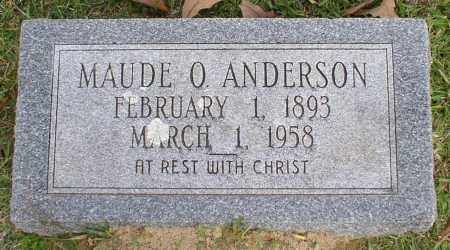 ANDERSON, MAUDE O. - Garland County, Arkansas | MAUDE O. ANDERSON - Arkansas Gravestone Photos