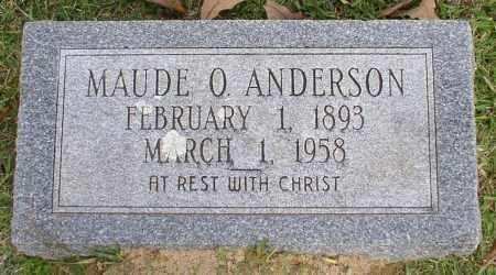 ANDERSON, MAUDE O. - Garland County, Arkansas | MAUDE O. ANDERSON - Arkansas Gravestone Photos
