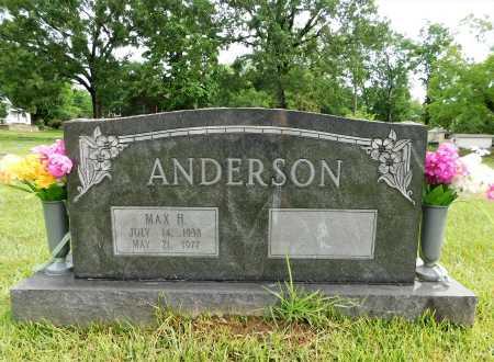 ANDERSON, MAX H. - Garland County, Arkansas | MAX H. ANDERSON - Arkansas Gravestone Photos