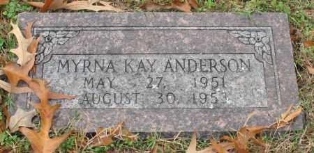 ANDERSON, MYRNA KAY - Garland County, Arkansas | MYRNA KAY ANDERSON - Arkansas Gravestone Photos