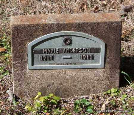 ANDERSON, MARIE - Garland County, Arkansas | MARIE ANDERSON - Arkansas Gravestone Photos