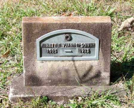 ANDERSON, NETTIE V. - Garland County, Arkansas | NETTIE V. ANDERSON - Arkansas Gravestone Photos