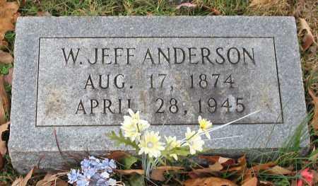 ANDERSON, W. JEFF - Garland County, Arkansas | W. JEFF ANDERSON - Arkansas Gravestone Photos