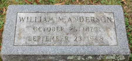 ANDERSON, WILLIAM M. - Garland County, Arkansas | WILLIAM M. ANDERSON - Arkansas Gravestone Photos
