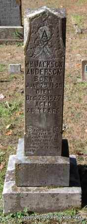 ANDERSON, WILLIAM JACKSON - Garland County, Arkansas | WILLIAM JACKSON ANDERSON - Arkansas Gravestone Photos