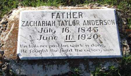 ANDERSON, ZACHARIAH TAYLOR - Garland County, Arkansas | ZACHARIAH TAYLOR ANDERSON - Arkansas Gravestone Photos
