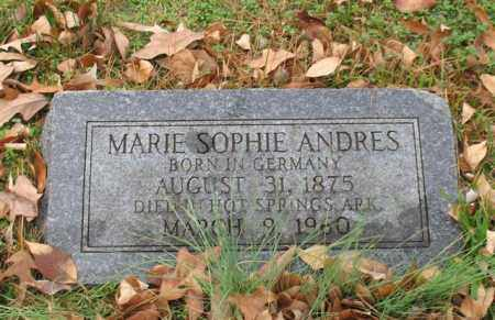 ANDRES, MARIE SOPHIE - Garland County, Arkansas | MARIE SOPHIE ANDRES - Arkansas Gravestone Photos