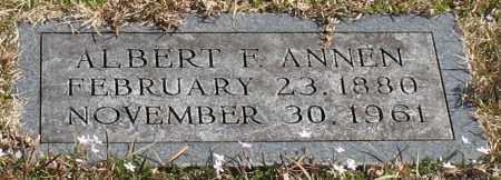 ANNEN, ALBERT F. - Garland County, Arkansas | ALBERT F. ANNEN - Arkansas Gravestone Photos