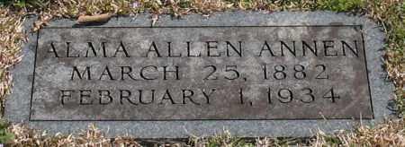 ANNEN, ALMA - Garland County, Arkansas | ALMA ANNEN - Arkansas Gravestone Photos