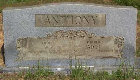 ANTHONY, WILLLIAM P. - Garland County, Arkansas | WILLLIAM P. ANTHONY - Arkansas Gravestone Photos