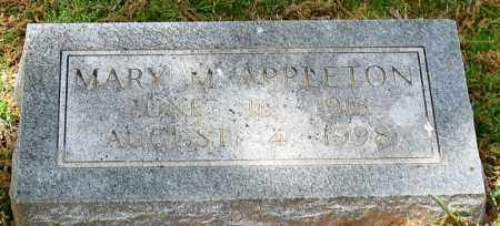 APPLETON, MARY M. - Garland County, Arkansas | MARY M. APPLETON - Arkansas Gravestone Photos