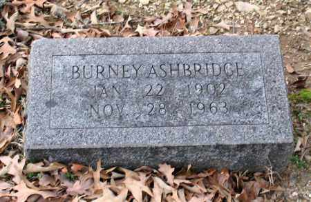 ASHBRIDGE, BURNEY - Garland County, Arkansas | BURNEY ASHBRIDGE - Arkansas Gravestone Photos