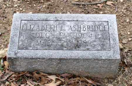 ASHBRIDGE, ELIZABETH L. - Garland County, Arkansas | ELIZABETH L. ASHBRIDGE - Arkansas Gravestone Photos