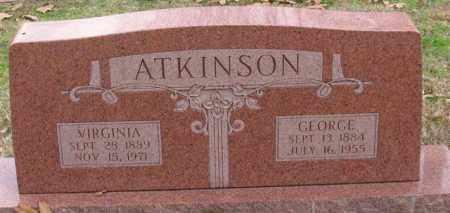ATKINSON, VIRGINIA - Garland County, Arkansas | VIRGINIA ATKINSON - Arkansas Gravestone Photos